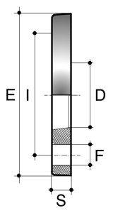 Фланец свободный ПВХ для промышленности клеевой большой диаметр