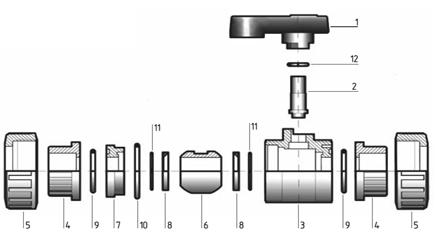 Комплектация шаровый кран 2 х-ходовой для воды