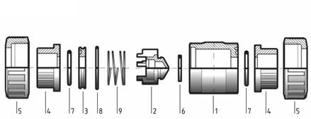 Обратный клапан ПВХ