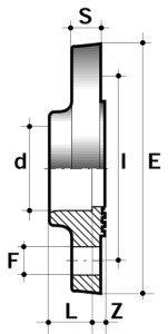 Фланец ПВХ для промышленности клеевой