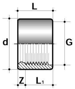 Редукция короткая ПВХ промышленная клеевая/внутренняя резьба