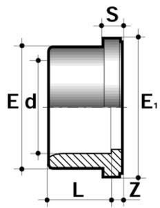 Заглушка ПВХ для промышленности клеевая зубчатая большой диаметр
