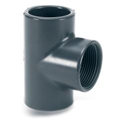Тройник 90° ПВХ для промышленности клеевой/резьбовой