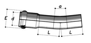 Колено 22,5° раструбное