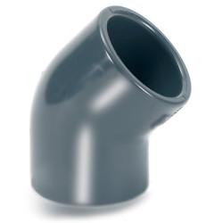Колено 45° ПВХ для промышленности большой диаметр