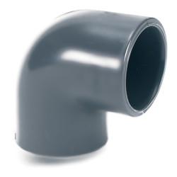 Колено 90° пластиковое большой диаметр