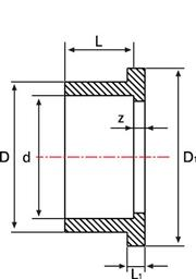 Фланцевый адаптер НПВХ для воды с клеевой муфтой
