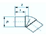 Колено 45° литое ПЭ-100