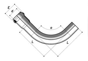 Колено 90° НПВХ раструбное
