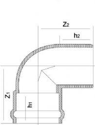 Колено 90° НПВХ с переходной муфтой F/F