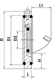 Обратный клапан ПВХ межфланцевый