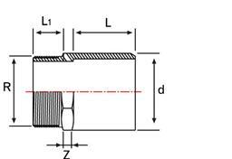 Муфта НПВХ клеевое/наружная резьба большого диаметра