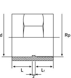 Муфта НПВХ клей/резьба большого диаметра