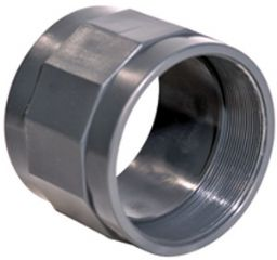 Муфта НПВХ клей/резьба большого диаметр