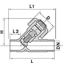 Обратный клапан 45° ПВХ