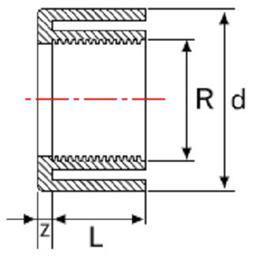 Переходник НПВХ с односторонней внутренней резьбой