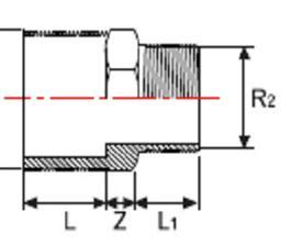 Редукция НПВХ с двухсторонней наружной резьбой