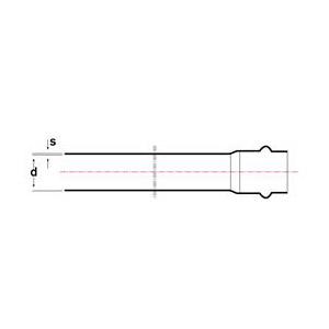 Схема труба НПВХ напорная с раструбом