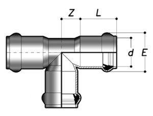Тройник 90° НПВХ раструбный