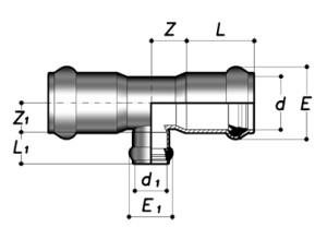 Тройник 90° НПВХ редукционный раструбный