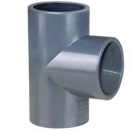 Тройник 90° НПВХ для воды с внутренней резьбой и клеевой муфтой