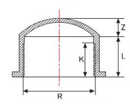 Заглушка НПВХ с внутренней резьбой и клеевой муфтой