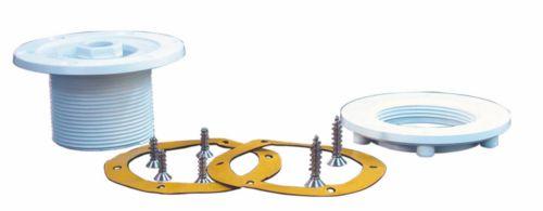 Резьбовой выход и затягивающая гайка для подводного прожектора