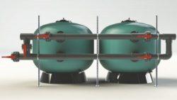 Батареи клапанов для двух фильтров для коммерческих бассейнов