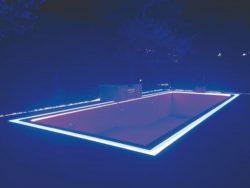 Подсветка бассейна светодиодной лентой Strip LED