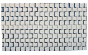 Переливная решетка для бассейна модульная Model Square для изгибов