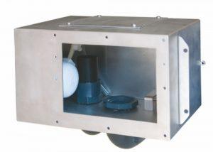 Скиммер из нержавеющей стали для бетонного бассейна (модель 1)