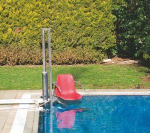 Гидравлический подъемник в бассейн
